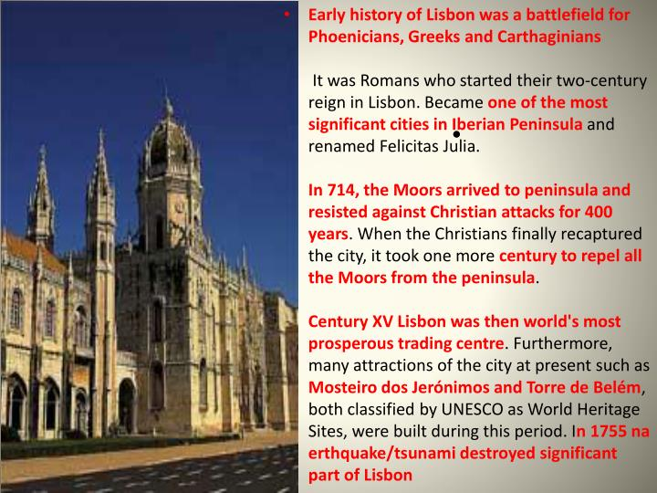 Early history of Lisbon was a battlefield for Phoenicians, Greeks and Carthaginians