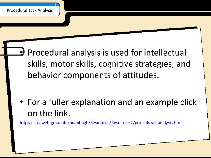 Procedural Task Analysis