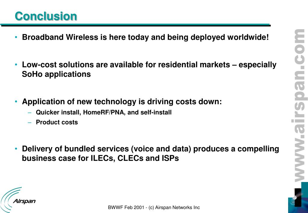 PPT - Broadband Wireless World Forum San Francisco