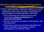 marketing applications of psychographics