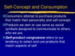 self concept and consumption