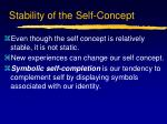 stability of the self concept