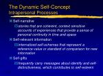 the dynamic self concept intrapersonal processes