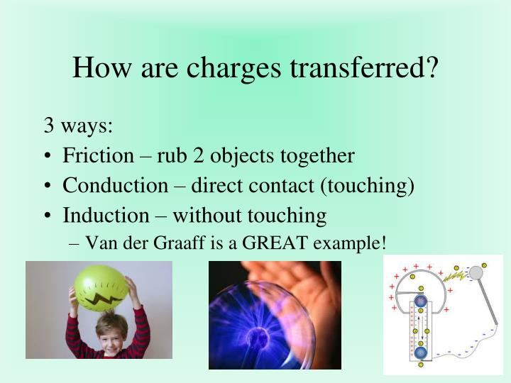 How are charges transferred?