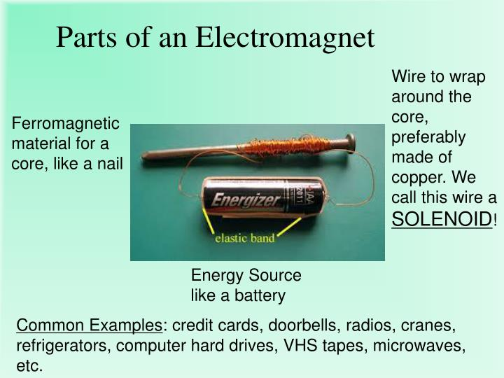 Parts of an Electromagnet