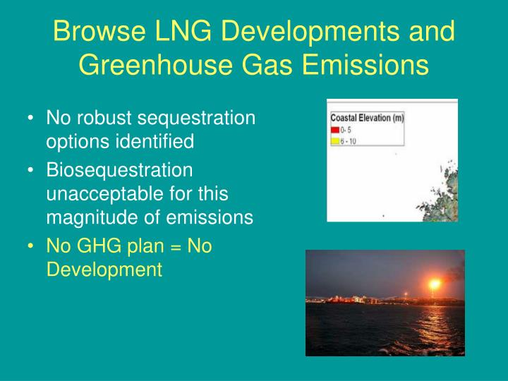 Browse LNG Developments and Greenhouse Gas Emissions