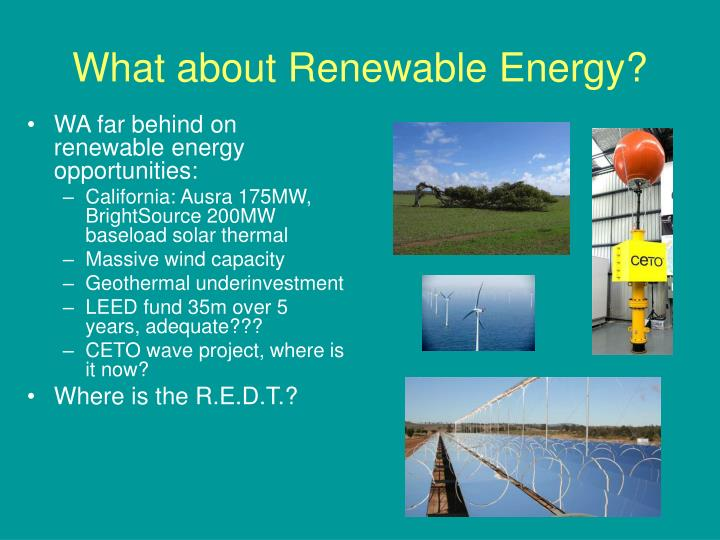 What about Renewable Energy?