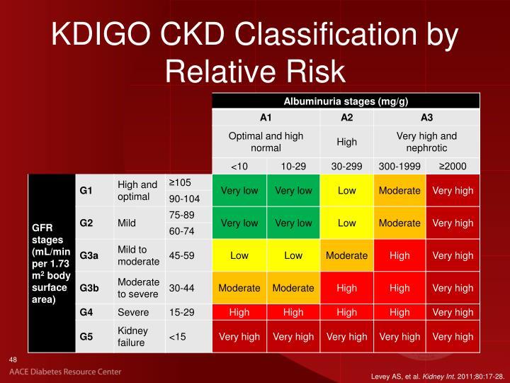 KDIGO CKD Classification by Relative Risk