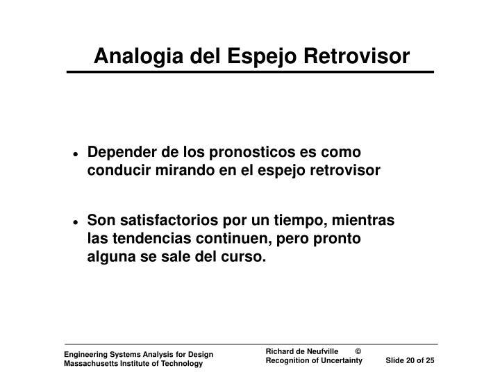 Analogia del Espejo Retrovisor