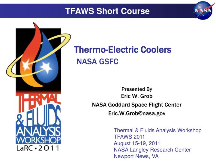 thermo electric coolers nasa gsfc n.