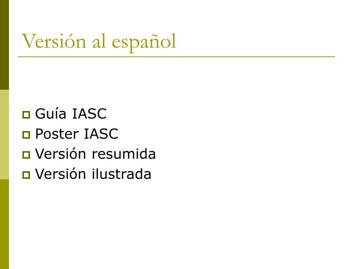 Versión al español