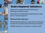redevelopment initiatives