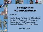 strategic plan accomplishments