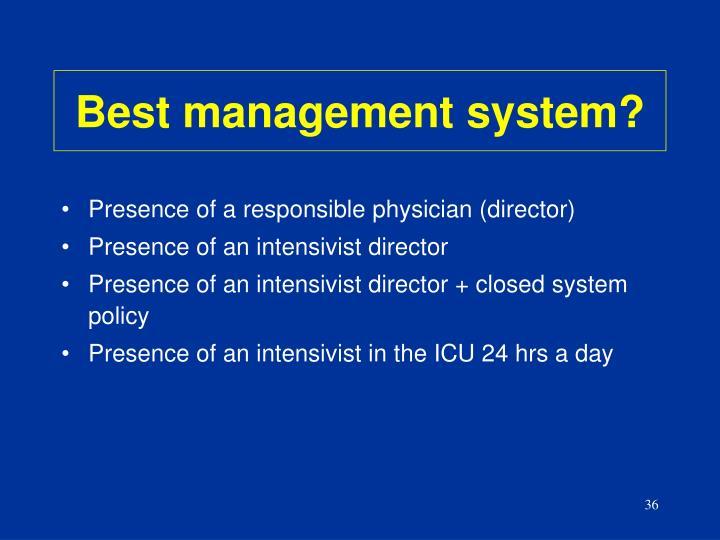 Best management system?