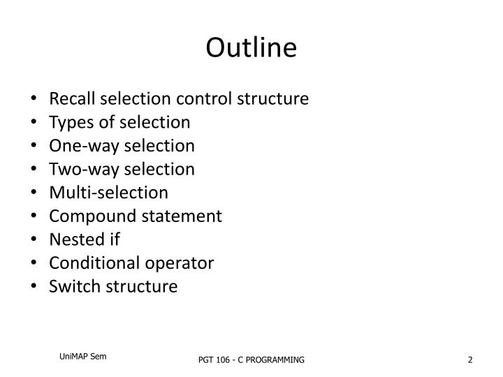 PPT Week 3 Selection Structures PowerPoint Presentation ID3505131
