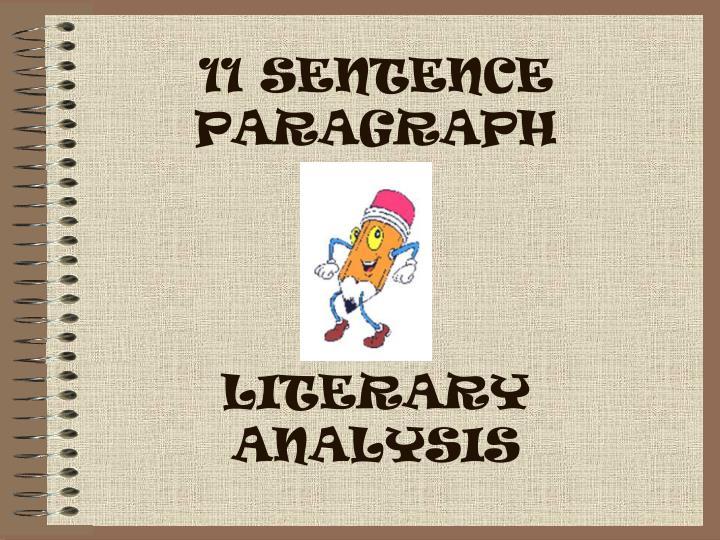 11 sentence paragraph literary analysis n.