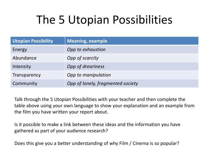 The 5 Utopian Possibilities