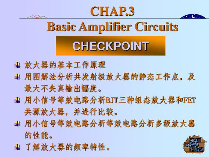 chap 3 basic amplifier circuits n.
