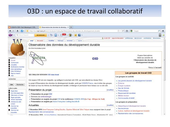 03D : un espace de travail collaboratif