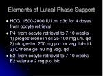elements of luteal phase support