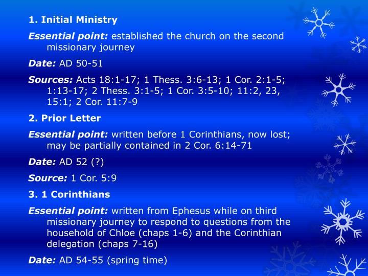 1. Initial Ministry