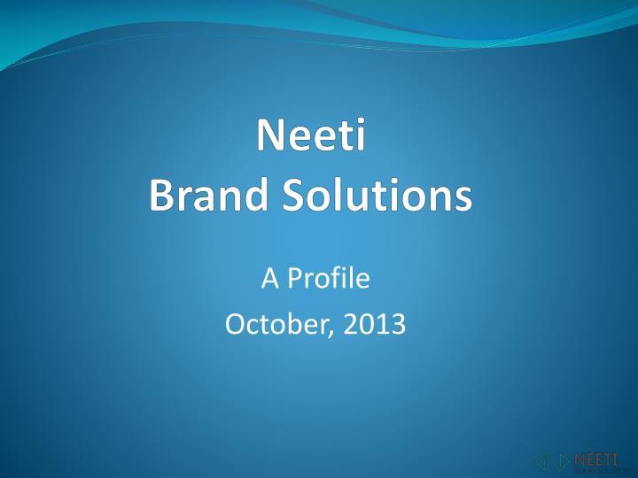 neeti brand solutions n.