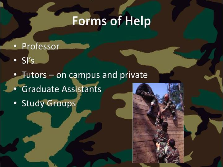 Forms of Help
