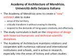 academy of architecture of mendrisio universit della svizzera italiana