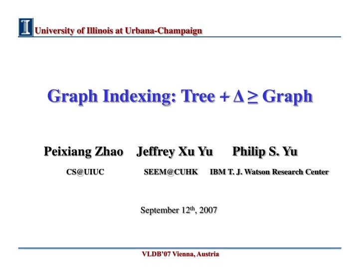 graph indexing tree graph n.