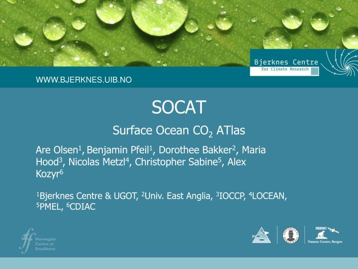 PPT - SOCAT PowerPoint Presentation - ID:3505835