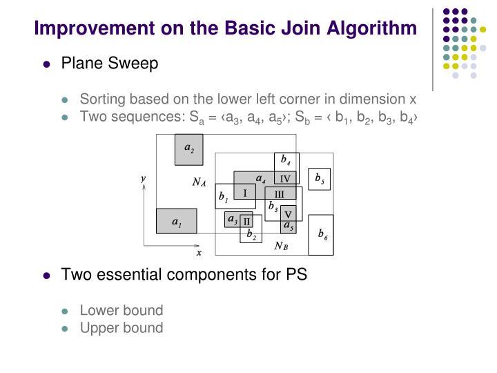 Improvement on the Basic Join Algorithm