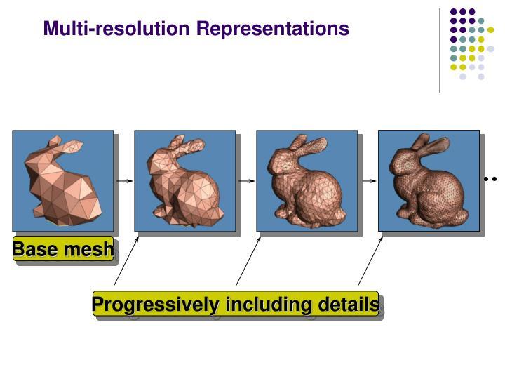 Multi-resolution Representations