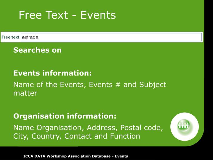 Free Text - Events