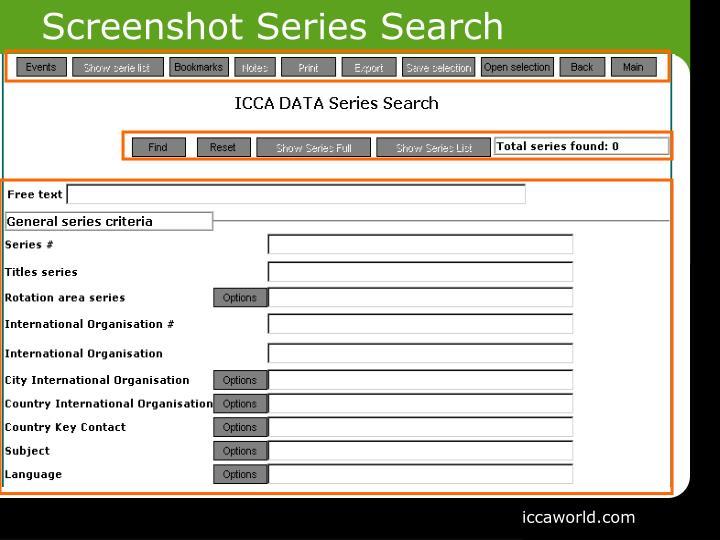 Screenshot Series Search