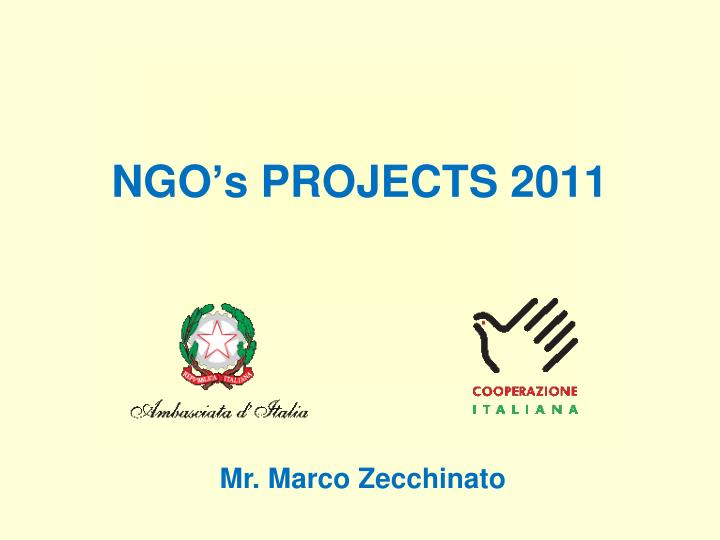 ngo s projects 2011