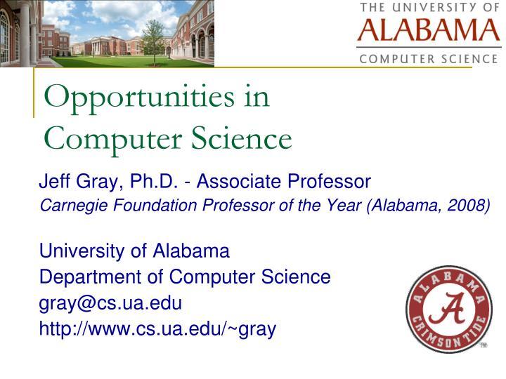 opportunities in computer science n.