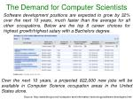 the demand for computer scientists1