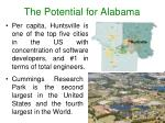 the potential for alabama