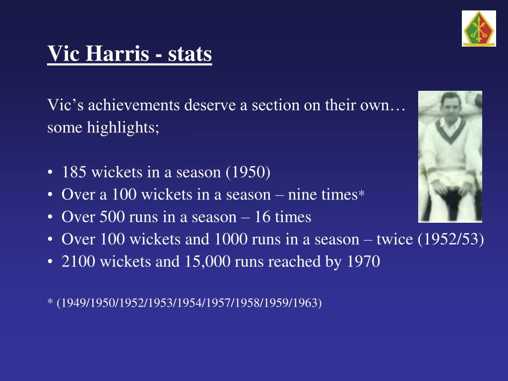 PPT - HISTORY OF ILFORD CATHOLIC CRICKET CLUB Founded 1920