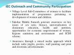 iec outreach and community participation