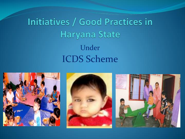 initiatives good practices in haryana state