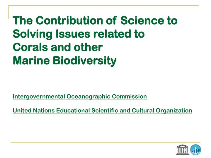 The Contribution of Science to
