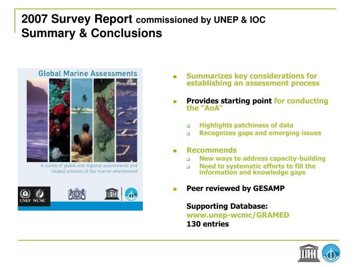 2007 Survey Report