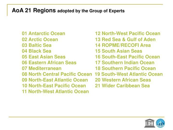 AoA 21 Regions
