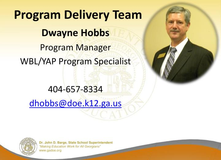 Program Delivery Team