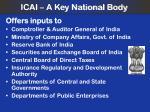 icai a key national body
