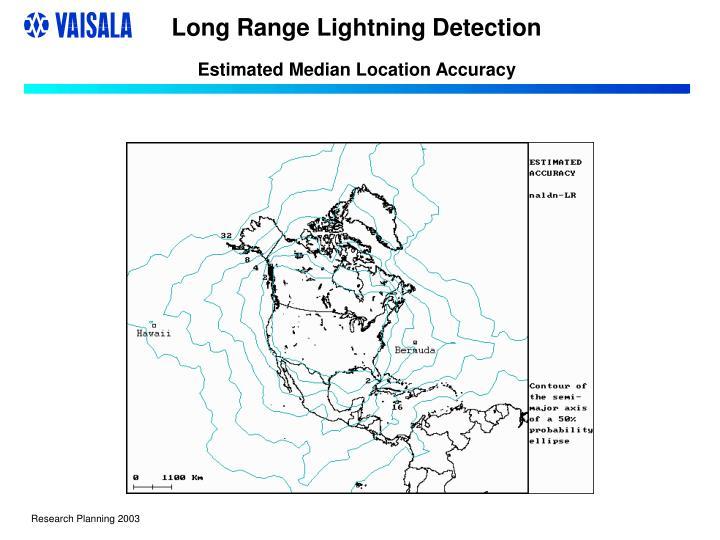 long range lightning detection estimated median location accuracy n.