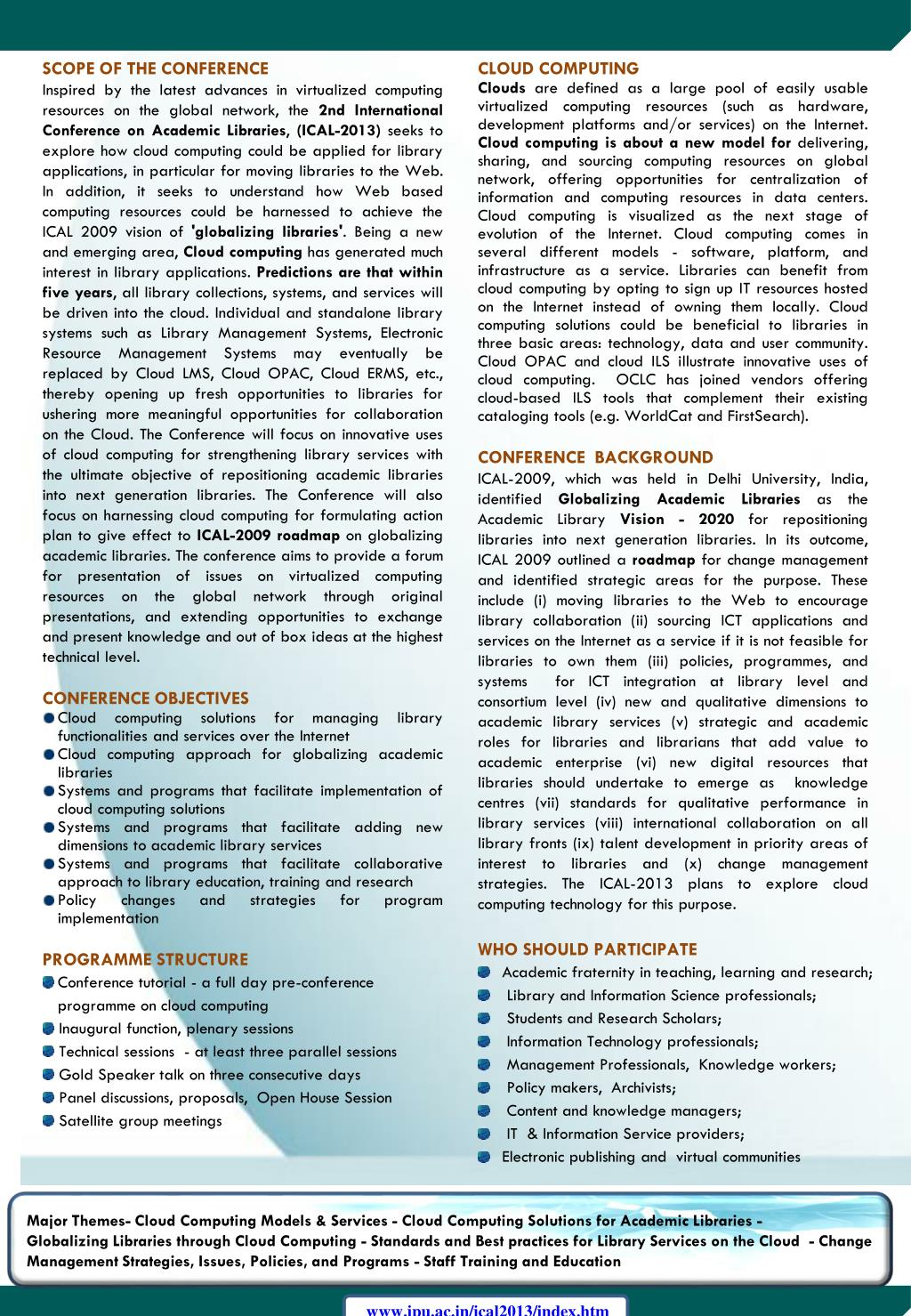 PPT - ICAL – 2013 FIRST CALL FOR PAPERS PowerPoint Presentation - ID