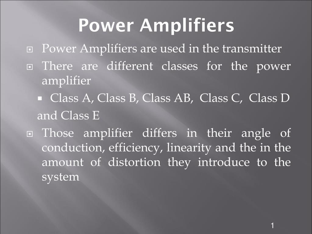 Ppt Power Amplifiers Powerpoint Presentation Id3506591 Inverting Amplifier With Class Ab N