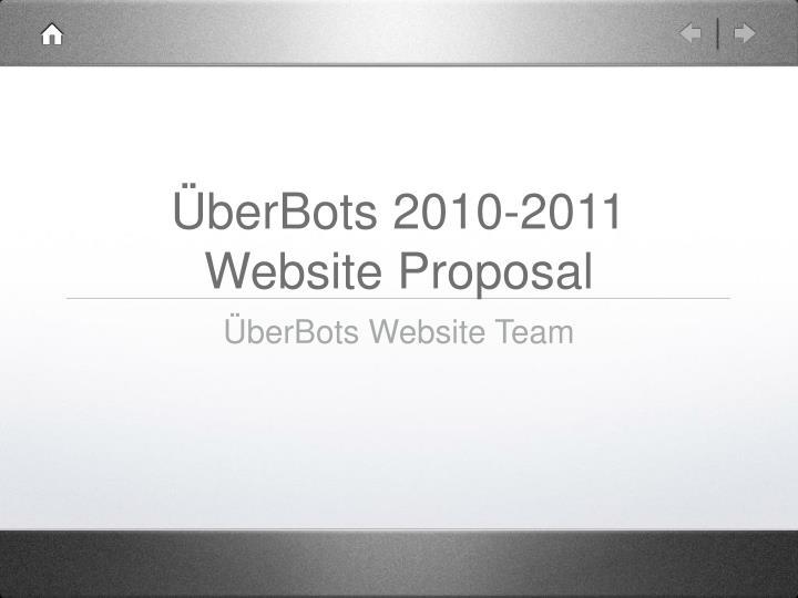 berbots 2010 2011 website proposal n.